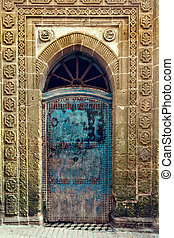 Weathered old door in Morocco