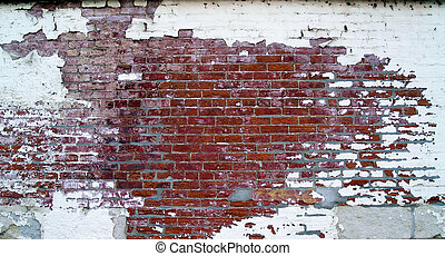 Weathered Old Store Brick Wall - Grungy, weathered brick...