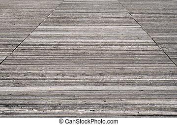 weathered old wooden boardwalk background