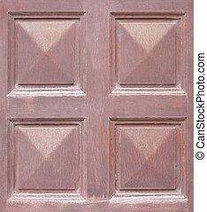 Weathered old wooden door texture