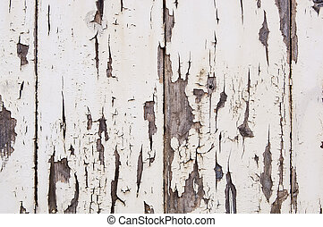 Weathered Paint on Wood