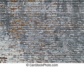 Weathered Painted Brick Wall - Old weathered and pealing...