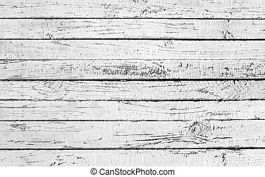 Weathered painted white wooden plank