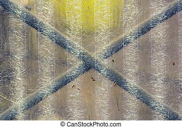 weathered plastic - Corrugated transparent plastic sheeting...