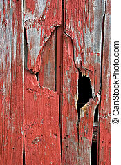 weathered red barn siding - Close up of old red barn siding...