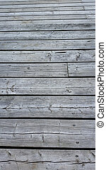 Weathered silver wooden decking