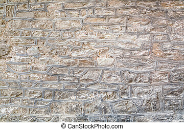 Weathered stone wall as background
