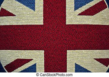 Weathered Union Jack UK flag grunge rugged condition