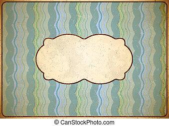 Weathered vintage cardboard frame