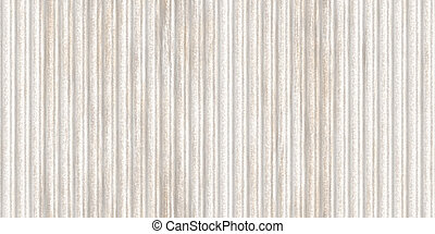 Weathered white corrugated metal texture. Crimp fence background. Ribbed metallic surface. Wavy iron wall pattern. Fluted metal fencing backdrop.