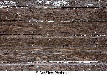 weathered wood background with traces of white paint - wall ...
