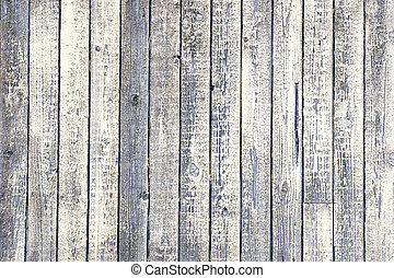 weathered wood with peeling white paint - Background of...