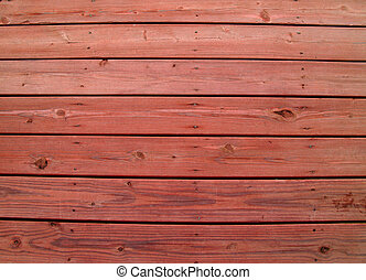 Weathered Wooden Deck with Redwood - Wooden slats on a...