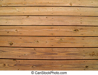 Weathered Wooden Deck - Wooden slats on a weathered wooden...