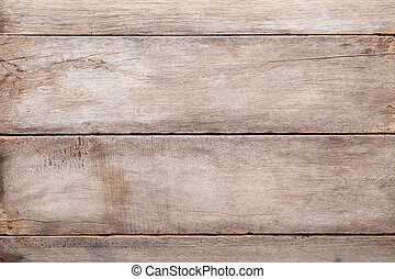 Weathered wooden table background, top view
