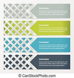 weave banner design  Green, blue, gray color