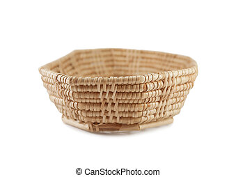 Weave basket on white background