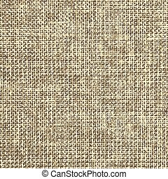 Realistic weaving fabric texture, detailed sackcloth seamless pattern