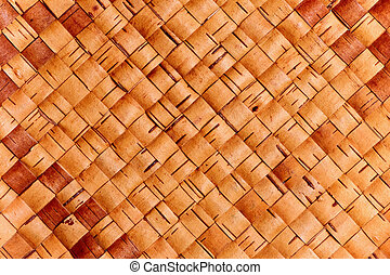 Weaving from birch bark - The Russian national trade -...