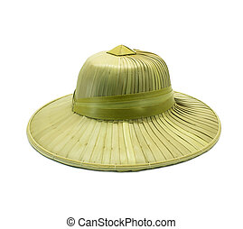 Weaving hat isolated on white background