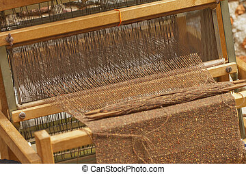 Weaving loom - Close up of an old weaving loom