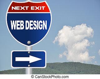 web, дизайн, дорога, знак