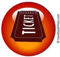 web, кнопка, или, билет, белый, вход, красный, значок