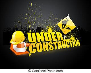 web, шаблон, под, строительство
