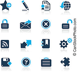 Web 2.0 / Azure - Vector icons for your website or...