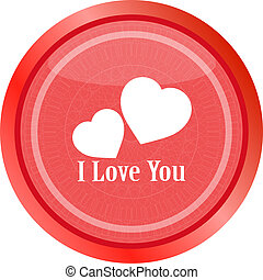 web 2.0 button with heart sign. Round shapes icon