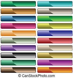 web, 20, gemischt, tasten, farben, glänzend