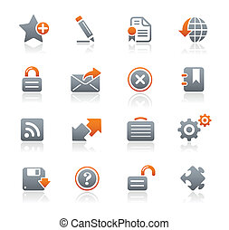 Web 2.0 / Graphite Series - Vector icons for your website or...