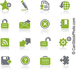 Web 2.0 / Natura - Vector icons for your website or...