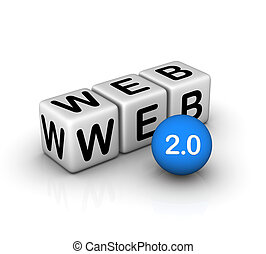 web, 2.0, pictogram