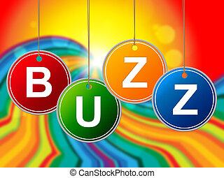 web, aankondiging, internet, gezoem, wereld, optredens, ...