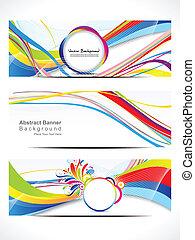 web, abstrakt, vektor, banner, bunte