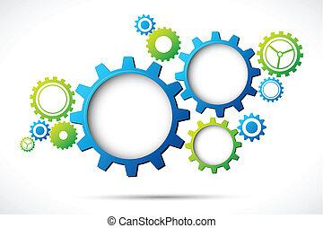 web, abstraktes design