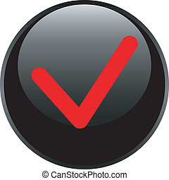 web, accettare, lucido, fondo, cerchio, bianco, icona