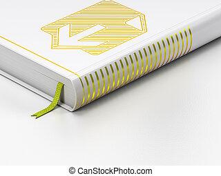 web, achtergrond, boek, ontwerp, gesloten, downloaden, witte , concept: