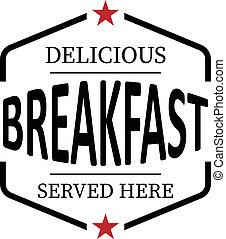 web, achtergrond, postzegel, ouderwetse , rubber, heerlijk, ontbijt, witte , pictogram