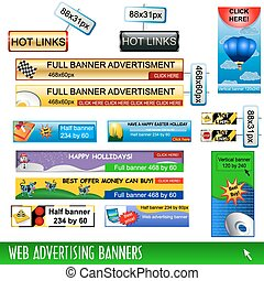 Web Advertising Banners - Collection of web advertising...
