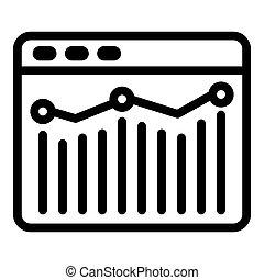 Web analytics icon, outline style