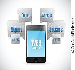 web analytics phone concept illustration