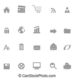 Web and e-commerce icons