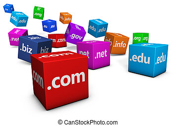 Web And Internet Domain Names - Website and Internet domain...