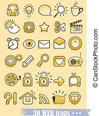 web and media icons