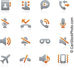 Web and Mobile Icons 1 Graphite - Icons for your digital or...