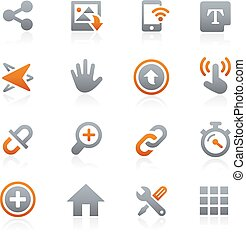 Web and Mobile Icons 10 Graphite - Icons for your digital or...