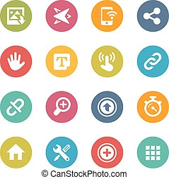 Web and Mobile Icons 10 - Icons and buttons in different...