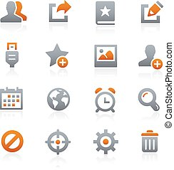 Web and Mobile Icons 2 Graphite - Icons for your digital or...